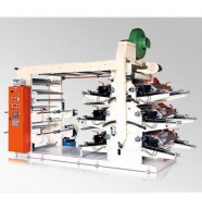 Шестицветная флексографическая печатная машина